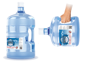 3 or 5 gallon size bottles